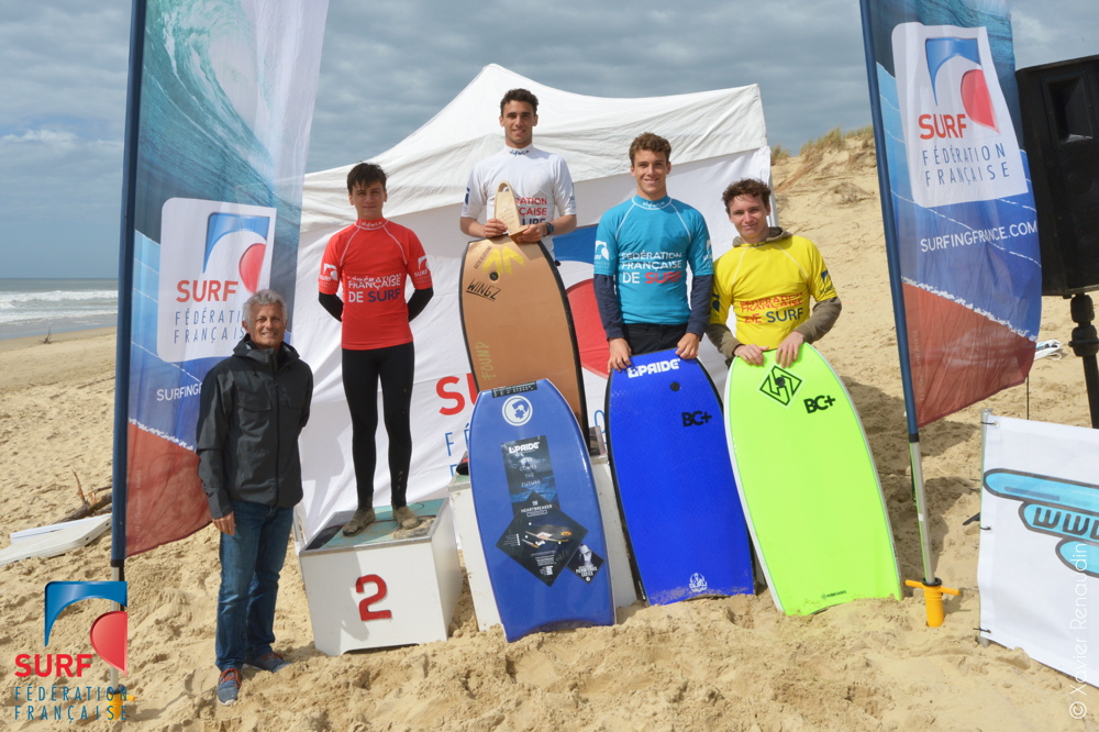 CDF Bodyboard Royan 15042018 podium Juniors X.Renaudin