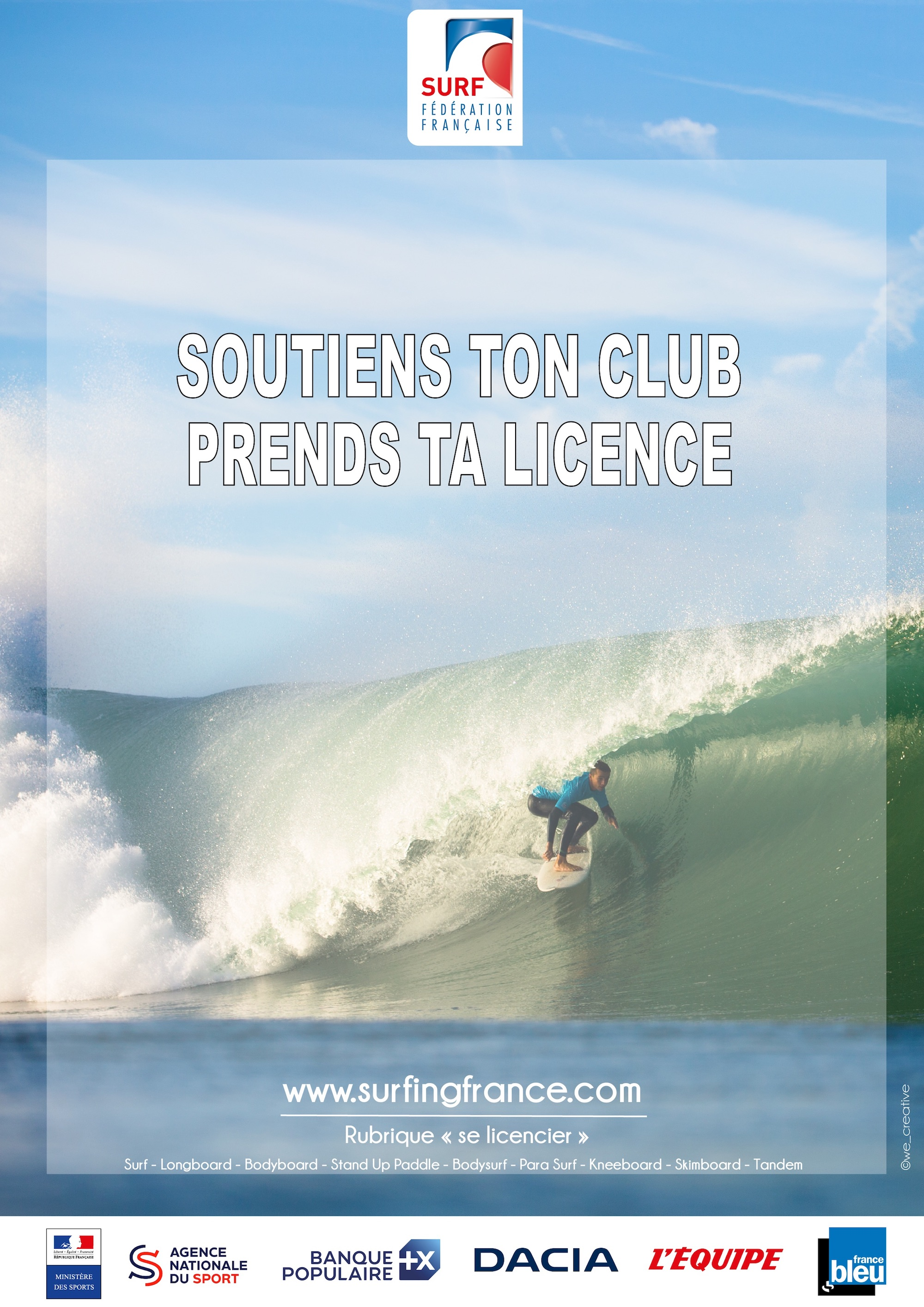 LICENCE A4 Soutiens ton club SURF copie