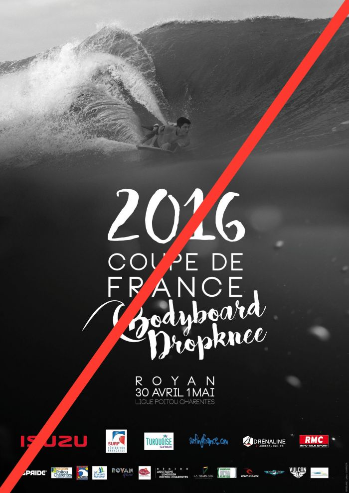 Annulation de la Coupe de France de Bodyboard et Dropknee à Royan