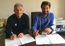Jean-Luc Arassus, le président de la FFSurf, et Matthieu Granier, président de la Ligue Paca.