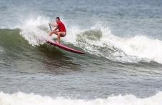 Vice-championne du monde de Sup surf il y  trois semaines au Nicaragua, la Vendéenne Caroline Angibaud sera l favorite dans sa catégorie ce week-end.