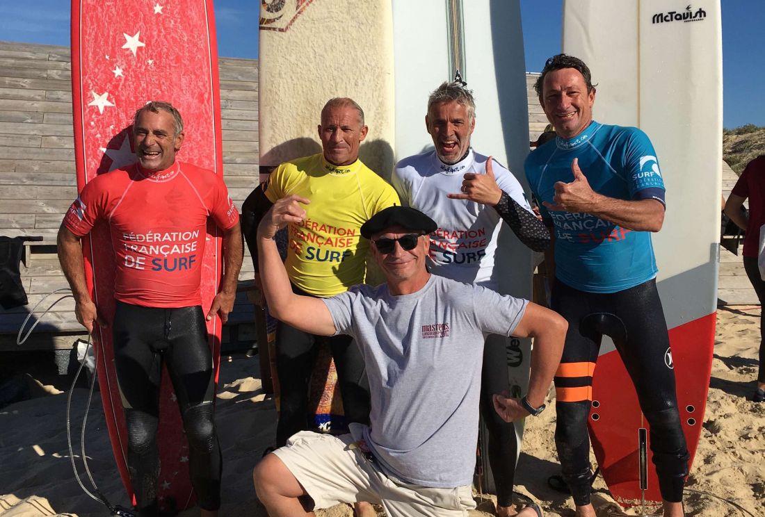 Martial Ambassadeur BIC Surf champion de FRance en longboard